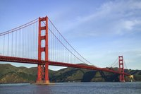 Paint your bridge a red hue like the Golden Gate Bridge in San Francisco.