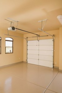 Use a quick-turn bracket as a low-headroom option for garage doors.