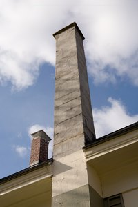 Review local codes for the local safety guidelines of chimneys and stoves.