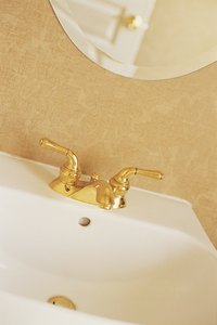 Repaint a gold faucet for a new look.