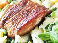 Seared turkey cutlets blend deliciously with creamy pasta dishes.
