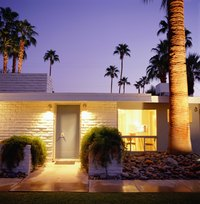 Exterior lights provide both function and design appeal.