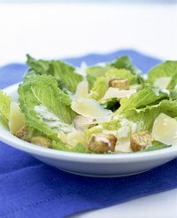 Homemade Caesar dressing made with raw eggs has a very short shelf life.