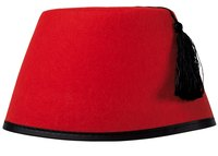 Make a miniature fez for your pet, child or doll.