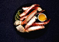 Bake, boil or steam crab legs.