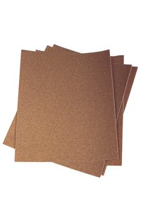 Cut and fold sandpaper sheets to use as much of the material as possible.