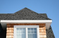 Break up a roof line with a gabled window.