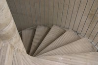 Spiral staircases consume less floor space.