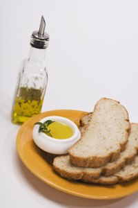 Most Italian restaurants serve bread and herb infused olive oil for dipping.
