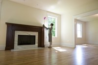 Check a room for squareness before beginning a remodeling project.