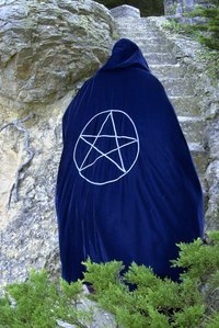 This is an example of a pentagram on a robe.