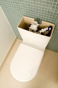 Deposits that build up inside the toilet's tank may affect its operation.