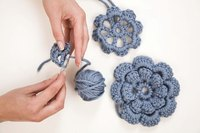 Crochet flowers are a delicate option for trim for a project.