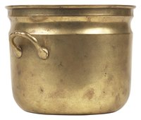 Brass pots require regular polishing to keep them shiny.