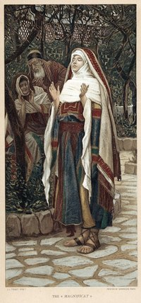 Historically accurate clothing in the style that Mary and Joseph wore can be created inexpensively.
