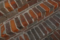 Bricks are commonly found in walkways, decks and patios.