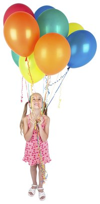Balloons make any party a festive one, and can make saying goodbye a little easier.