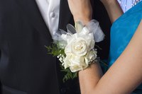 A wrist corsage with silk flowers will never fade or wilt.