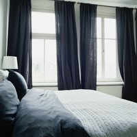 Back tab curtains have a clean, uncluttered look.