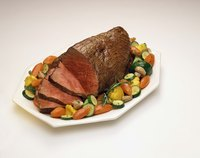 Plate sauteed seasonal vegetables alongside your roast.