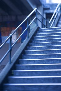 Stairs have requirements on handrails.