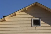 A soffit can conceal the rafters exposed in the eaves of a roof.