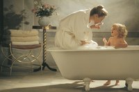 Classic claw-foot tubs are typically made of porcelain-enameled cast iron.