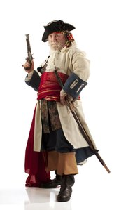 Pirates often wore stolen hats in a variety of styles.