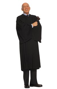 The iconic black robe is part of a judge's uniform.