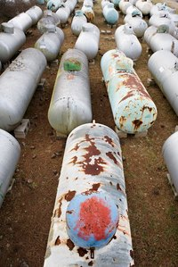 Propane tanks are a common sight near houses because many people use this gas.