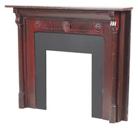 Build a decorative mantel to frame your fireplace.