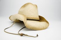 Stampede strings are made from horsehair or leather and keep the hat on the head.