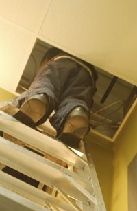 Codes require that boxes in attics be permanently accessible.