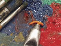 Sanding prepares the painting surface and creates a rough finish to a painting.