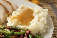 Mashed potatoes taste even better than unusual when you add brown gravy.