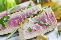 Tuna steaks are often served rare.