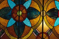 Stained glass adds opulence to any cabinet door.