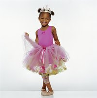 Tulle rag skirts are good for little girls' playtime outfits.