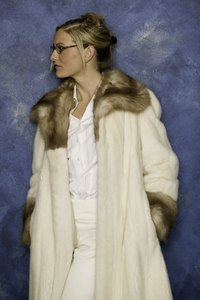Fur coats can make attractive winter garments.