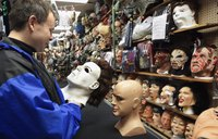 Some stores sell Michael Myers masks.