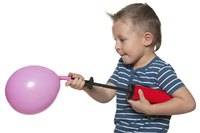 Even small children can blow up a balloon using a hand pump.