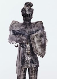 A knight's armor is an ideal basis for a Goliath costume.