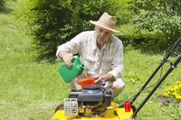 You add oil to your mower only if it has a four-stroke engine.