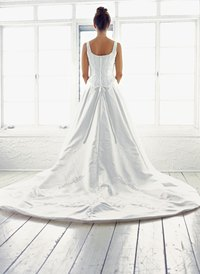 A bustle allows you to lift the train of your dress for easier movement.