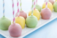 Use colored candy melts to make pastel-colored cake pops.