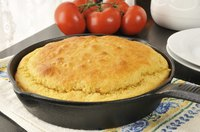 Bake your cornbread in a pre-heated cast iron skillet for an even crispier crust.