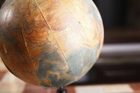 Globes can come in many different color schemes; you can make your landforms green or various colors.