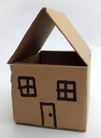 Making simple cardboard houses is a great project for kids.