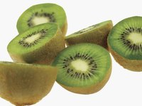 Ascorbic acid helps keep kiwifruit from browning.