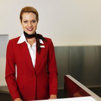 It's easy to put together a flight attendant costume.